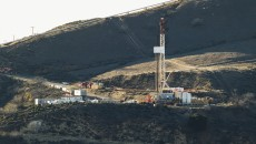 Equipment and machinery is seen on a ridge above a natural gas well known as SS25 in Southern California Gas Company's vast Aliso Canyon facility. Pressure on the company has been mounting as residents of nearby Porter Ranch deal with the odor resulting from a leak at the well which was discovered on October 23. 12/14/2015